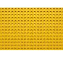 Building Block Brick Texture - Yellow Photographic Print