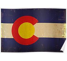 Colorado State Flag VINTAGE Poster