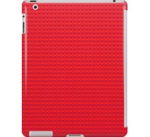 Building Block Brick Texture - Red iPad Case/Skin