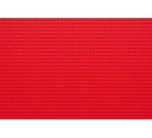 Building Block Brick Texture - Red Photographic Print