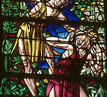 Cain kills Abel C16 Glass Cathedral St Etienne Chalons Sur Marne France 198405060053  by Fred Mitchell