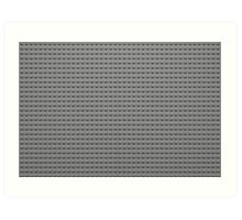 Building Block Brick Texture - Gray Art Print