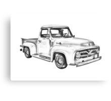1955 F100 Ford Pickup Truck Illustration Canvas Print