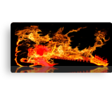 guitar fire Canvas Print