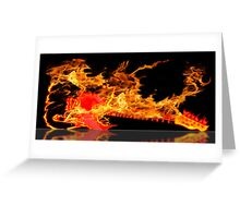 guitar fire Greeting Card