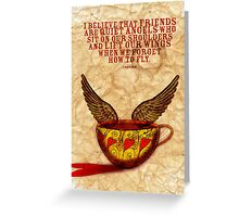 What my Coffee says to me - September 15, 2012 Greeting Card