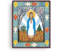 St. Kateri Tekakwitha Icon Canvas Print