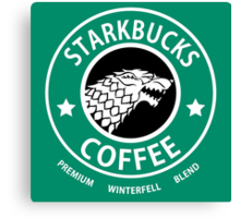 Game of Thrones Starbucks Coffee Canvas Print