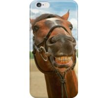 Animal - Horse - I finally got my braces off iPhone Case/Skin