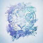 Abstract Watercolor Tiger Portrait / Face by badbugs