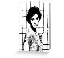Sophia Loren In A Killer Dress Greeting Card