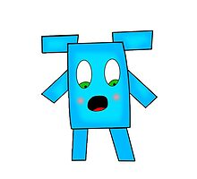 Blue Shocked Funny Avatar. by Tonyui
