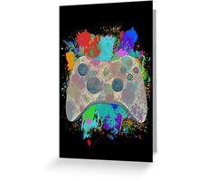 Painted Xbox 360 Controller Greeting Card