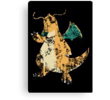 Dragonite Splatter Canvas Print