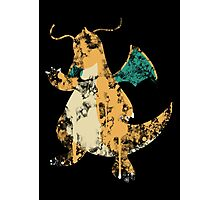 Dragonite Splatter Photographic Print