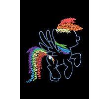 Sprayed Rainbow Dash Photographic Print