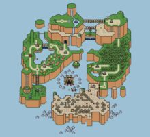 Super mario world map Kids Clothes