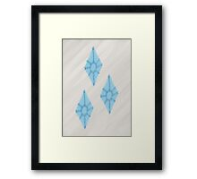 Watercolour Rarity Cutie Mark Framed Print