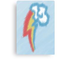 Watercolour Rainbow Dash Cutie Mark Canvas Print