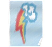 Watercolour Rainbow Dash Cutie Mark Poster