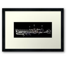 underwater airship of musical devices Framed Print