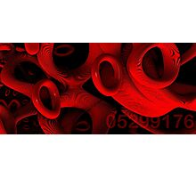 red rings of mercury Photographic Print