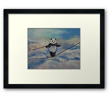 Panda Tightrope Framed Print