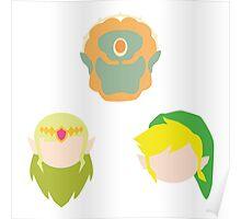 Legend of Zelda Characters Poster