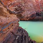 Hamersley Gorge rock colours - Pilbara by gaylene