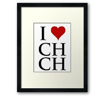 I Love Christchurch Framed Print