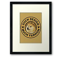 doge (such design much fashion) Framed Print