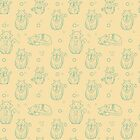 Cute abstract seamless cat pattern by Xinnie