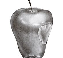 Bitten apple by Tatsiana Kandrashova