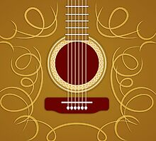 Classic Acoustic Guitar  iPhone Case / Samsung Galaxy Case / Pillow / Tote Bag / Duvet  by CroDesign