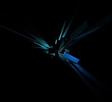 Glowing Geometry of Blue And Green by perkinsdesigns