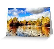Autumn in Battersea Park Greeting Card