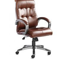 Catania Managers Brown Leather Chair by atlantisofficee
