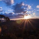 Sunset at Hassans Walls Reserve, Lithgow  by Deborah McGrath