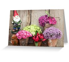 Still Life with Flowers & a Gnome Greeting Card