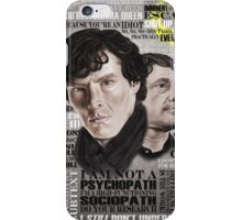 Sherlock TV Series Favourite Quotes iPhone Case/Skin