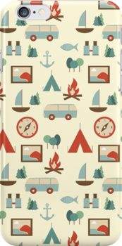 Simple abstract seamless tourist pattern by Xinnie