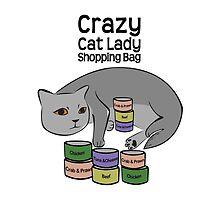 Crazy Cat Lady Shopping Bag by sweetkoala