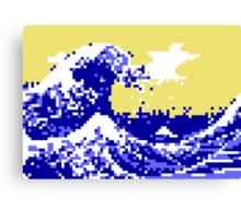Pixel Tsunami Canvas Print