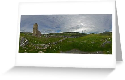Glencolmcille Panorama with Church by George Row