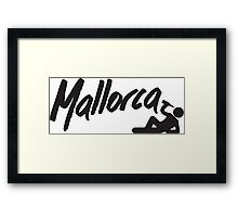 I love Mallorca Framed Print