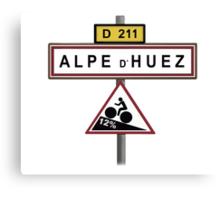Alpe D'Huez Cycling Gradient Road Signs  Canvas Print