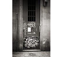 Muki Door BW Photographic Print