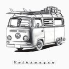 VW Type 2 Bay Window Surfer - 'Signed' by roudyb