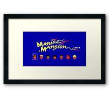 Maniac Mansion Framed Print