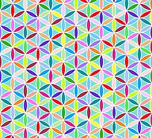 Flower of Life Pattern – Multicoloured by NataliePaskell